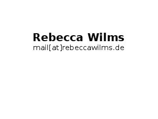 mail[at]rebeccawilms.de